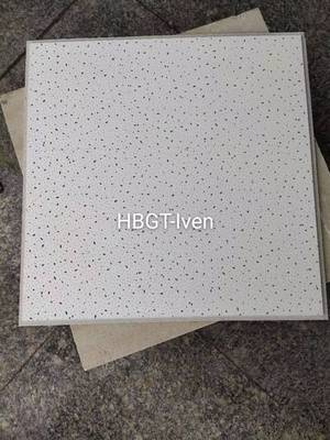 Commercial Acoustic Mineral Fiber Ceiling Board of 12mm15mm