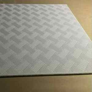595X595 Acoustic False Ceiling Board / PVC Gypsum Ceiling Tiles